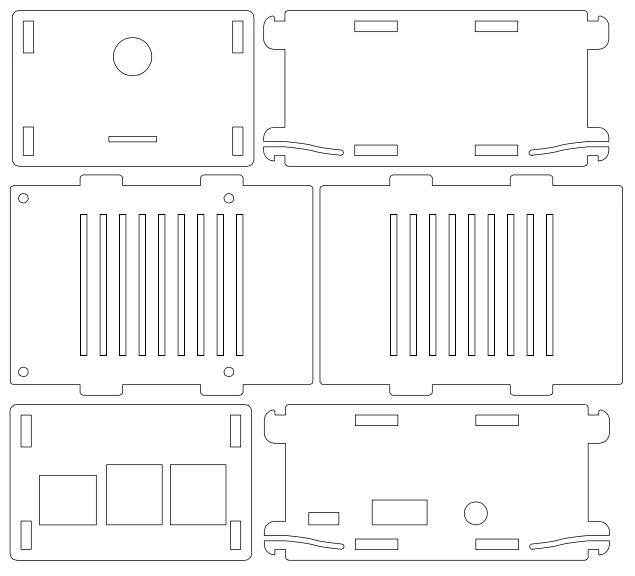RaspberryPi B+ Gehäuse für SCC (CAD-Zeichnung)