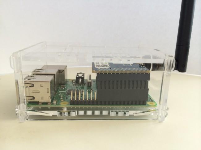 RaspberryPi B+ Gehäuse für SCC (Seitenansicht)