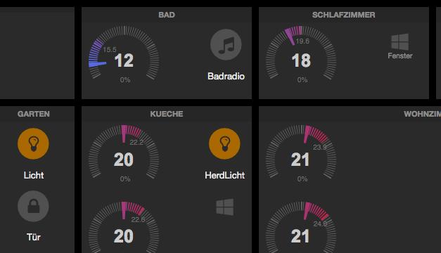 FHEM Dashboard – Grundgerüst für Tablet-UI