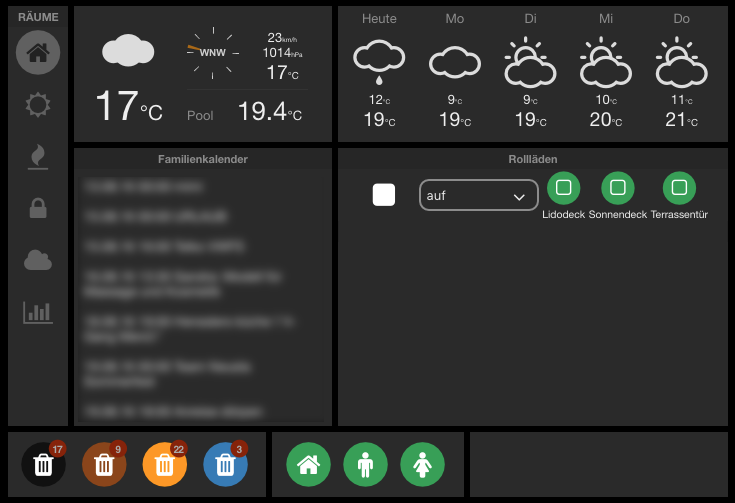 FHEM Dashboard – Tablet-UI Widgets