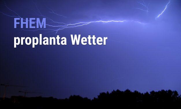 Yahoo Wetter durch Proplanta ersetzen
