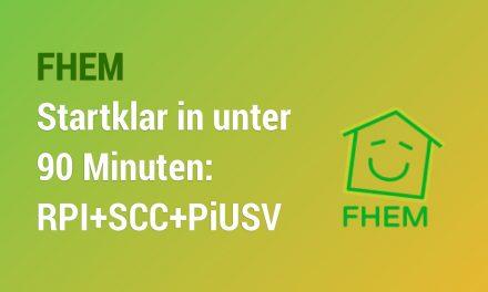 Startklar in 90 Minuten – RPI installieren mit Debian Jessi, FHEM, Busware SCC, PiUSV+ und Amazon Kindle Paperwhite als Statusanzeige