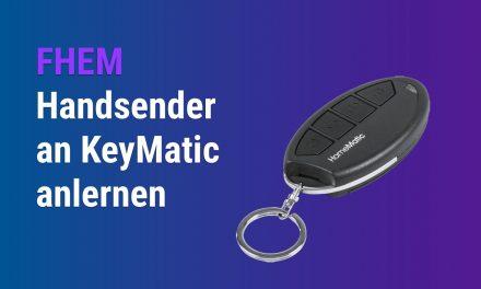 Handsender HM-RC-Key4-3 an KeyMatic anlernen über FHEM endlich gelöst