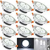 Hengda 5W LED Einbauleuchten mit Trafo Kabel Einbauspots Stimmungsbeleuchtung Kaltweiß Nicht Dimmbar für den Wohnbereich, 10er Set